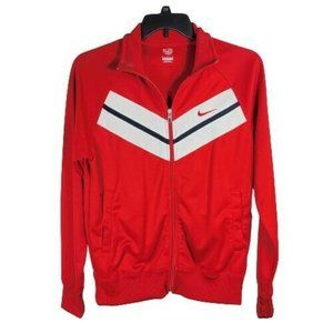 NIKE THE ATHLETIC DEPT Track Jacket M Full Zip Red White Black
